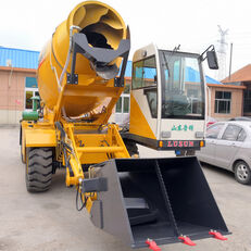 escavadora de rodas LUZUN selfloading concrete mixer novo
