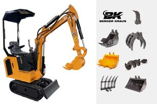 mini-escavadora BERGER KRAUS Mini Excavator BK800B with FULL equipment novo
