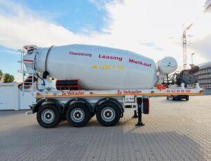 semi-reboque betoneira SCHWARZMÜLLER TTC-Fulda Betonmischer Auflieger mit Motor  NEU